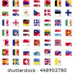 european flag icon | Shutterstock .eps vector #448903780