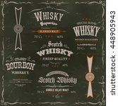 whisky labels and seals on... | Shutterstock .eps vector #448905943