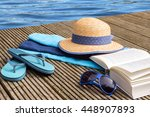 summer vacation  blue water and ... | Shutterstock . vector #448907893