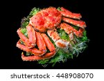 top view of red king crab... | Shutterstock . vector #448908070