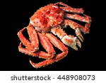 top view of red king crab on... | Shutterstock . vector #448908073