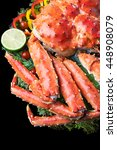 top view of red king crab... | Shutterstock . vector #448908079