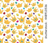 seamless pattern of crown with... | Shutterstock .eps vector #448913536