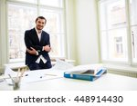 portrait of smiling architect... | Shutterstock . vector #448914430