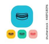 vector illustration of hot dog... | Shutterstock .eps vector #448918096