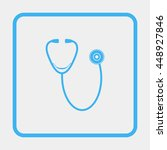 stethoscope icon. | Shutterstock . vector #448927846