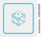 dice icon. | Shutterstock . vector #448928980