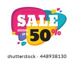 sale   creative abstract vector ... | Shutterstock .eps vector #448938130