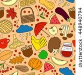 colorful seamless pattern with... | Shutterstock .eps vector #448940794