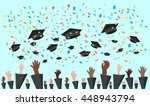 graduating students of pupil... | Shutterstock .eps vector #448943794