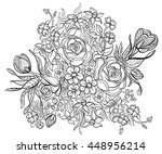 hand drawn ink pattern.... | Shutterstock .eps vector #448956214