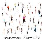 corporate teamwork office... | Shutterstock . vector #448958119