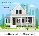 cute modern graphic cottage... | Shutterstock .eps vector #448963528