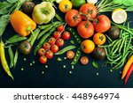 juicy bright summer vegetable... | Shutterstock . vector #448964974