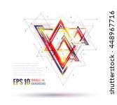 geometric polygonal elements.... | Shutterstock .eps vector #448967716
