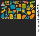 vector doodle set of education...   Shutterstock .eps vector #448968256