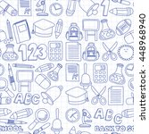 vector doodle set of education...   Shutterstock .eps vector #448968940