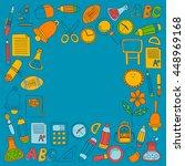 vector doodle set of education... | Shutterstock .eps vector #448969168