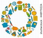 vector doodle set of education... | Shutterstock .eps vector #448970224