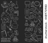 vector doodle set of education... | Shutterstock .eps vector #448970980