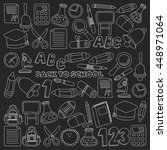 vector doodle set of education... | Shutterstock .eps vector #448971064