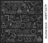 vector doodle set of education...   Shutterstock .eps vector #448971079