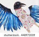 original bright background with ... | Shutterstock . vector #448972039