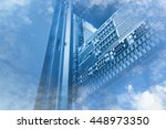 double exposure of cloud and... | Shutterstock . vector #448973350