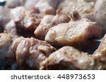 view of process of raw meat... | Shutterstock . vector #448973653