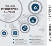 infographic design template can ... | Shutterstock .eps vector #448975954