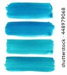 set of watercolor stripes.... | Shutterstock . vector #448979068
