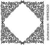 vintage baroque  frame... | Shutterstock .eps vector #448982620