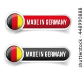 made in germany button vector | Shutterstock .eps vector #448990888