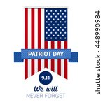 9.11 patriot day with usa flag... | Shutterstock .eps vector #448990984