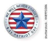 patriot day 9.11  digital sign... | Shutterstock .eps vector #448991086