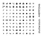 set of 100 universal icons....