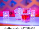 glass of whiskey on counter at... | Shutterstock . vector #449002630