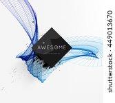geometric vector background.... | Shutterstock .eps vector #449013670