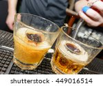 soda shot cocktail being made | Shutterstock . vector #449016514