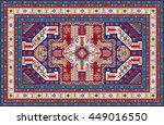 mosaic colorful rug with... | Shutterstock .eps vector #449016550