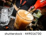 carbonated drink being poured | Shutterstock . vector #449016730