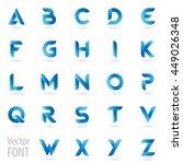 vector english alphabet letters ... | Shutterstock .eps vector #449026348