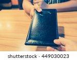 customers get bill and receipt... | Shutterstock . vector #449030023