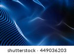 abstract polygonal space low... | Shutterstock . vector #449036203