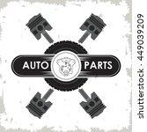 machine icon. auto part design. ... | Shutterstock .eps vector #449039209