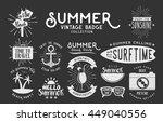 set of vintage summer badges... | Shutterstock .eps vector #449040556