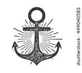 vintage anchor vector... | Shutterstock .eps vector #449040583