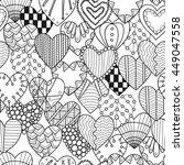seamless black  white pattern... | Shutterstock .eps vector #449047558