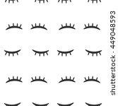 eyes closed seamless vector... | Shutterstock .eps vector #449048593