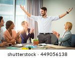 coworkers applauding a... | Shutterstock . vector #449056138